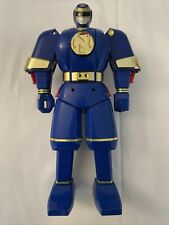 "11"" LARGE FLIP HEAD 1995 Power Rangers Ninja Shogun Megazord Blue Bandai"