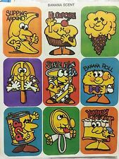 1 VINTAGE 80's sangamon banana 🍌  scented sniff sticker sheet $1.50 ships all