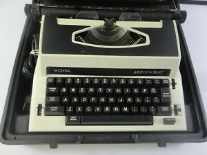 Vintage Royal Aristocrat Electric Typewriter with Hard Case | Great Cond.