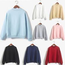 Damen Herren Langarm Sweatshirt Hooded Pullover Sweater Baseball Jumper Pulli FL