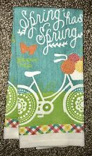 Pastel Spring Has Sprung Bicycle Dish Kitchen Hand Guest Cotton Towel Bike