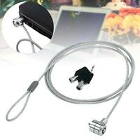 Anti-Theft Office Notebook Laptop Computer Desk Key Security Lock Chain Cable M