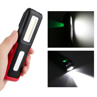 Rechargeable COB LED Work Light USB Flashlight Portable Camping Torch 18650