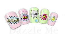 Nail Art Sticker Water Decals Transfer Stickers Hearts Smile Love (XF1575)