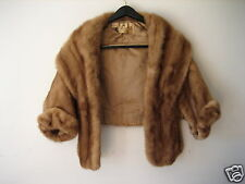 Vintage Fur Cape Stole Wrap Shawl Capelet Jacket Unknown Medium Brown Mink #2