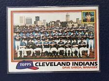 1981 Topps #665  CLEVELAND INDIANS Unmarked Team Checklist  NRMT