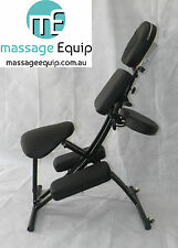 Quality Portable Massage Saddle Chair, light, carry bag BNIB, medical, Black