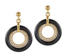Ohrringe Ohrhänger modisch Sterling Silber vergoldet mit Zirkonia & Keramik