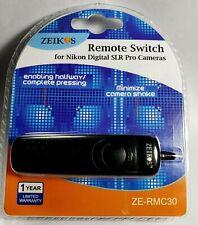 NEW ZEIKOS REMOTE CONTROL SWITCH ZE-RMC30 FOR NIKON DIGITAL SLR PRO CAMERAS