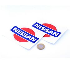 Nissan Badge Sticker Decal Nismo Car Vinyl 75mm x2 JDM Drift Racing