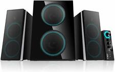 ineo Wooden 2.1 Gaming/PC Speakers with Subwoofers and Control Box (W602)
