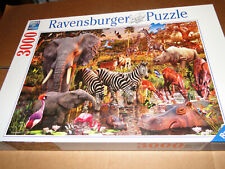 3000 piece puzzle complete Ravensburger Safari Animals Elephants, Zebras, Rhino