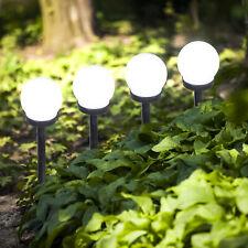 6er Set  LED Solar Leuchte schwarze Kunststoff 10 cm Garten Beleuchtung Erdspieß