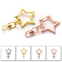 10pcs Star Shaped Lobster Clasp Buckle DIY Jewelry Making Keychain Bag Buckle