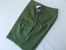 NWT OAKLEY Fusion SHORTS Land or Sea OLIVE GREEN Zip Fly CARGO Swim Play MENS 32
