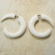 Boucles d'oreilles 2 pièces FAUX BOUCHON yakbone Nature Surfeur blanc 84