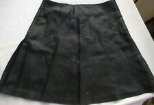 Ladies All Saints Ansel Leather Skirt Size 8