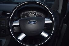 FORD C MAX  MK 1 MULTI FUNCTION STEERING WHEEL WITH AIRBAG  BLACK / SILVER