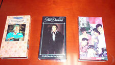 Lot of 3 VHS Videos (Kenny Rogers, Neil Diamond, NKOTB)