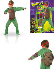 Costume Tartarughe Ninja con mascherine  Tg 7/8 anni