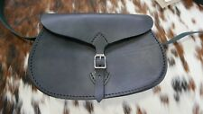 Medium Saddle Leather Sling bag in Black Color Black Tanned Slig Bag