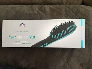 SUTRA BEAUTY IONIC HEAT BRUSH 2.0 HAIR STRAIGHTENING BRUSH IRON - TEAL
