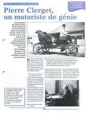 Pierre Clerget « Delage-Clerget » moteurs Diesel avion Nieuport 12 FRANCE FICHE