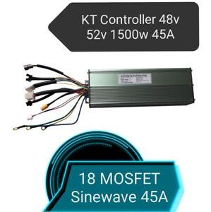 Ebike KT Controller 48V52V 1500W 18-FET 45A Sinewave Sensored Brushless Motor UK