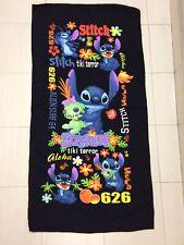 Disney Stitch And Scrump Towel. Aloha Black Theme. Soft touch. limited RARE