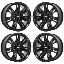 "22"" CADILLAC ESCALADE BLACK WHEELS RIMS FACTORY OEM 2016 2017 2018 SET 4738"