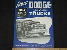 1948 Dodge Trucks - DE3 Series Sales Brochure CDN