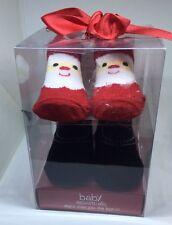 Baby Essential Girl Infant Socks 0-6 Months 2 Pairs Santa Christmas 🎄