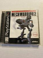 MechWarrior 2 (Sony PlayStation 1 PS1 1996) Complete with Manual, Broken Case