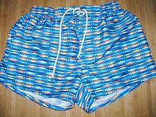 New listing 2XIST Swimsuit TRUNKS Size MEDIUM Polyester SWIM Suit BLUE with LOTS OF FISH