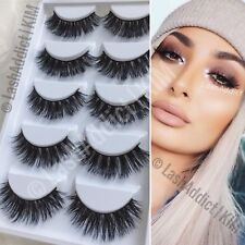 💕 5 PAIRS 3D Mink Lashes Eyelashes 💕 WISPY Extension Makeup Fur | US SELLER