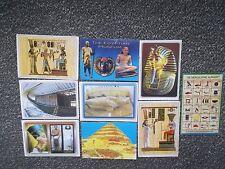 9 Postkarten, Ansichtskarten, Oberägypten,