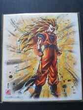 Carte Dragon Ball Super DBZ Shikishi Art 5 #Goku SSJ3 2018 MADE IN JAPAN