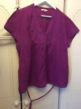 Debenhams Collection size 18 mulberry purple 100% Cotton top/blouse