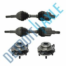 New Front Wheel Hubs & Bearings + (2) Front CV Axle Shafts - EXCEPT ZR2