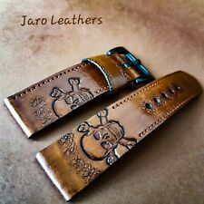 Hand-made and painted watch strap 18,20,22 mm
