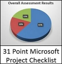 31 Point Microsoft Project Checklist