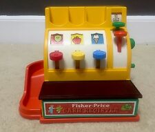 Vintage 1974 Fisher Price working play toy Cash Register Only #926