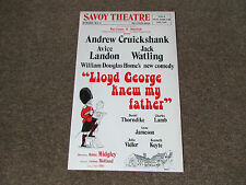 Andrew CRUICKSHANK in LLOYD George Knew my FATHER Comedy SAVOY Theatre Poster