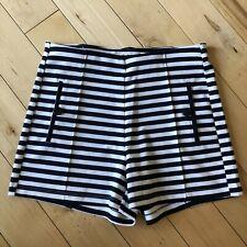 "Small Juniors - NWOT Ci Sono Brand Sailor Navy White Striped Shorts 2.5"" Inseam"