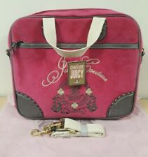 Pink JUICY COUTURE Velour Bag With Hand & Shoulder Canvas Strap   Ref: 1128