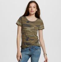 Juniors Short Sleeve Camo Print Graphic T-Shirt - Zoe+Liv-Green-XSmall-M300