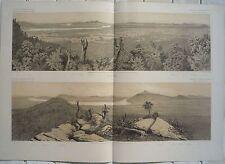 LAOS Panorama iles de Khong  Voyage d'exploration en Indochine Garnier 1873