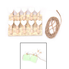 10x Mini Hearts Wooden Pegs Photo Clips Wedding Party Room Decor Craft Fashionoz