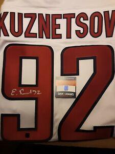 Evgeni Kuznetsov Signed Jersey Washington Capitals