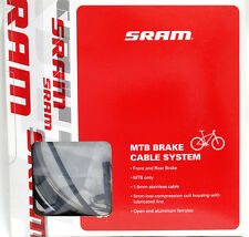 SRAM Brake Cable System, MTB Stainlese Brake Cable & Housing Kit, Black